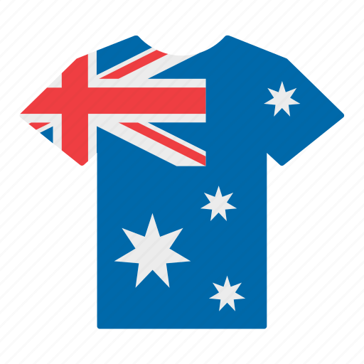 australia, australian, country, flag, jersey, shirt, t-shirt icon