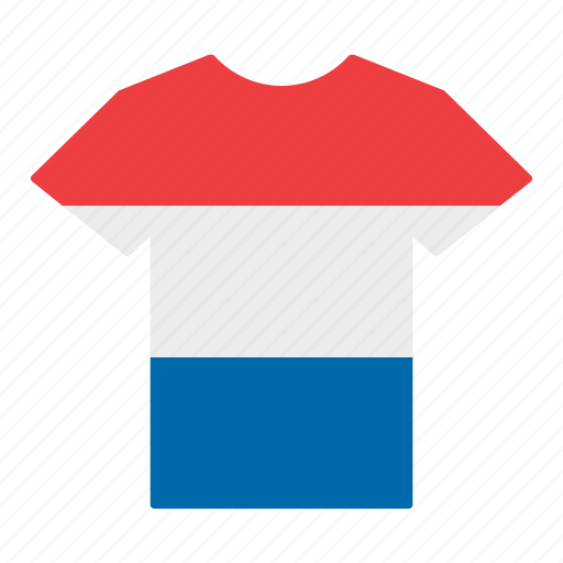 country, dutch, flag, holland, jersey, netherlands, shirt icon