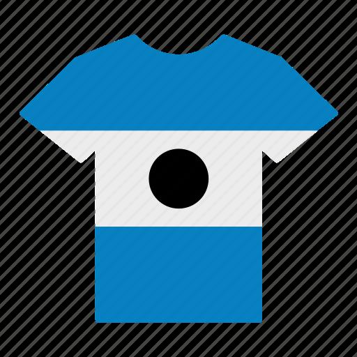 country, el salvador, flag, jersey, salvadoran, shirt, t-shirt icon