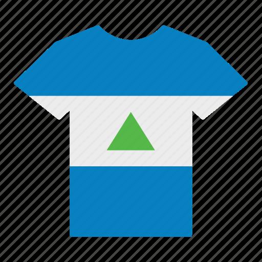 country, flag, jersey, nicaragua, nicaraguan, shirt, t-shirt icon
