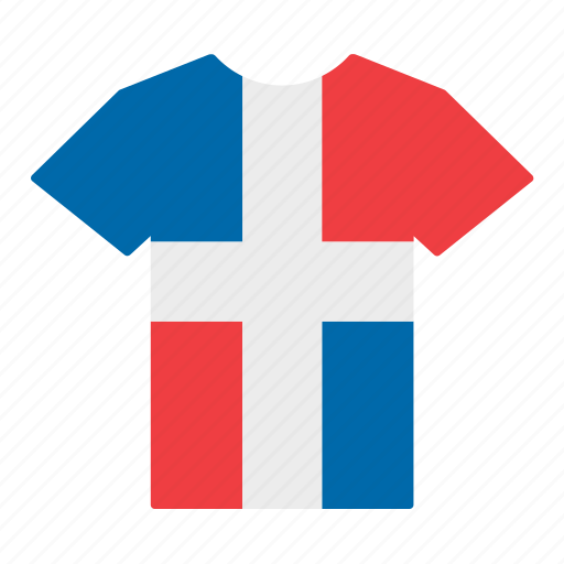 country, dominican, flag, jersey, republic, shirt, t-shirt icon