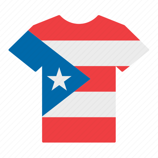country, flag, jersey, puerto rican, puerto rico, shirt, t-shirt icon