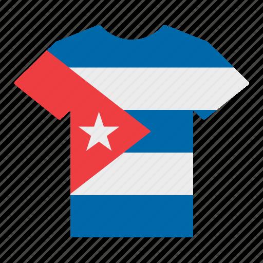 country, cuba, cuban, flag, jersey, shirt, t-shirt icon