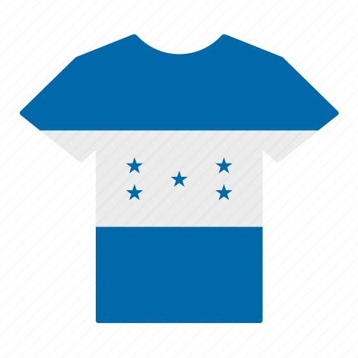 country, flag, honduran, honduras, jersey, shirt, t-shirt icon