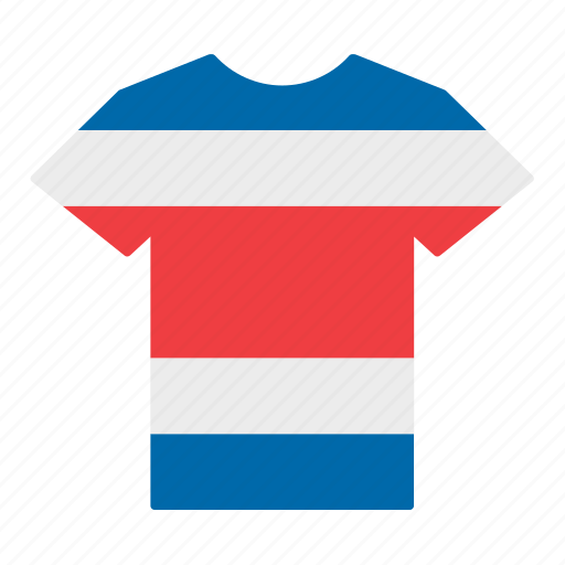 costa rica, costa rican, country, flag, jersey, shirt, t-shirt icon