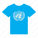 flag, jersey, shirt, t-shirt, un, united nations icon