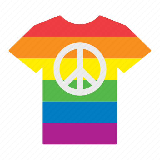 clothes, flag, jersey, peace, rainbow, shirt, t-shirt icon
