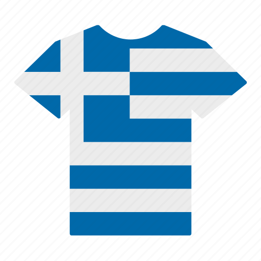 country, flag, greece, greek, jersey, shirt, t-shirt icon