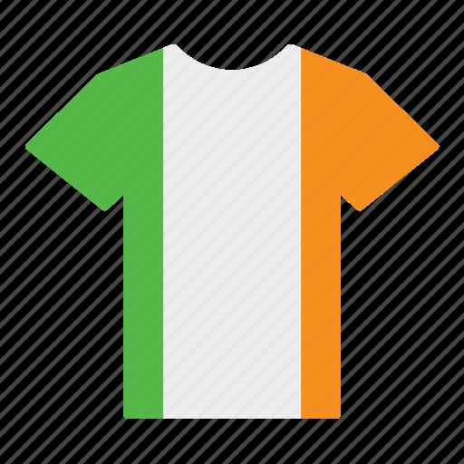 country, flag, ireland, irish, jersey, shirt, t-shirt icon