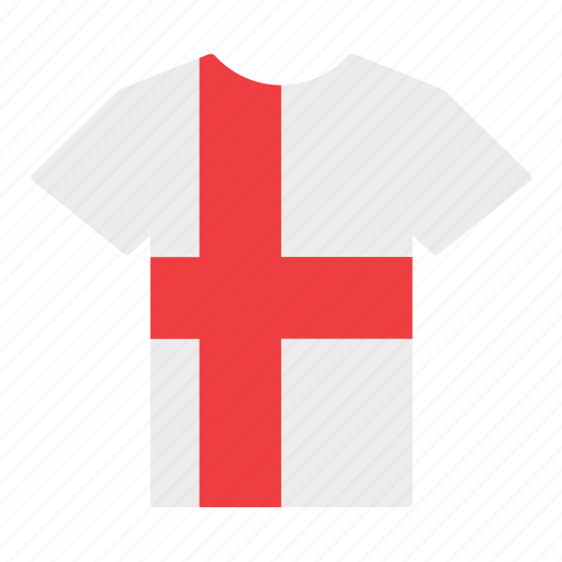 country, england, english, flag, jersey, shirt, t-shirt icon