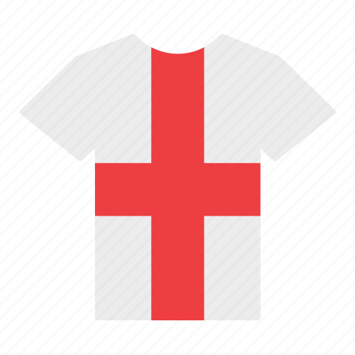 country, england, english, flag, jersey, shirt, t-shirt icon