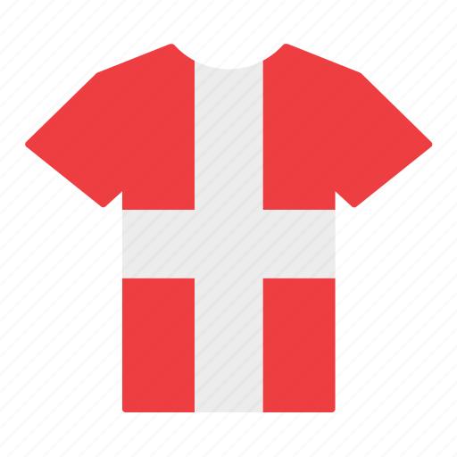country, danish, denmark, flag, jersey, shirt, t-shirt icon