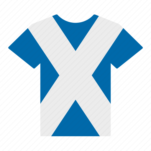 country, flag, jersey, scotland, scottish, shirt, t-shirt icon