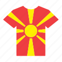 country, flag, jersey, macedonia, macedonian, shirt icon