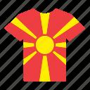 country, flag, jersey, macedonia, macedonian, shirt icon
