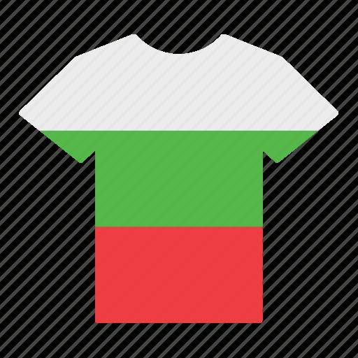 bulgarian, bulgary, country, flag, jersey, shirt, t-shirt icon