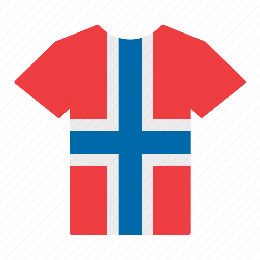 country, flag, jersey, norway, norwegian, shirt, t-shirt icon