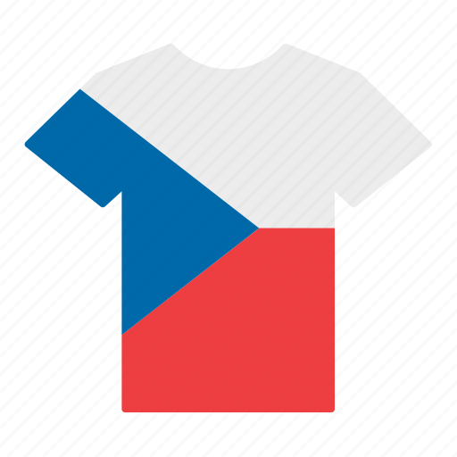 country, czech, czech republic, flag, jersey, shirt, t-shirt icon