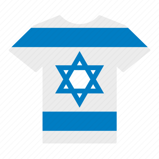 Country, flag, israel, israeli, jersey, shirt, t-shirt icon - Download on Iconfinder