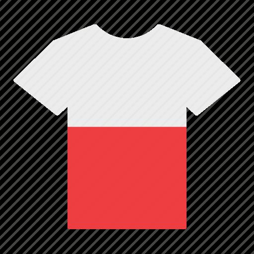 country, flag, jersey, poland, polish, shirt, t-shirt icon