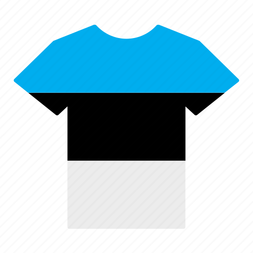 country, estonia, estonian, flag, jersey, shirt, t-shirt icon
