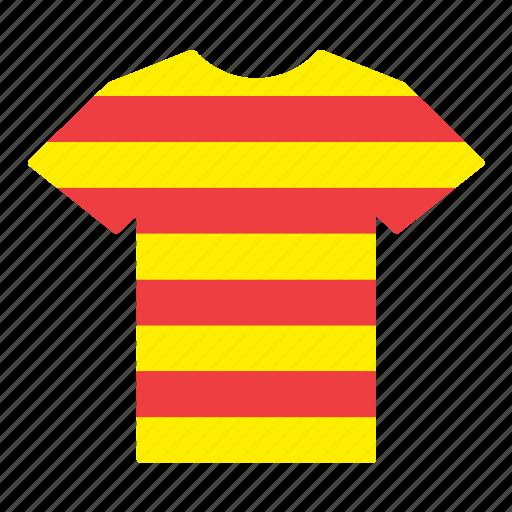 catalan, catalonia, country, flag, jersey, shirt, t-shirt icon
