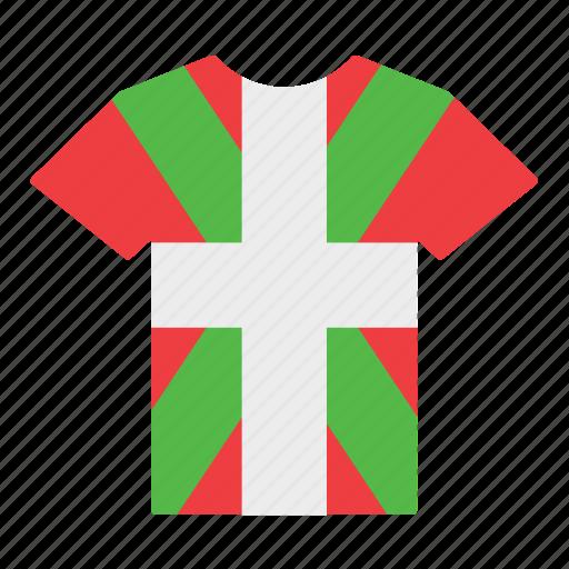 basque, basque country, country, euskadi, flag, jersey, shirt icon