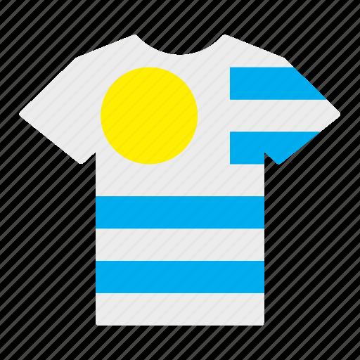 country, flag, jersey, shirt, t-shirt, uruguay, uruguayan icon