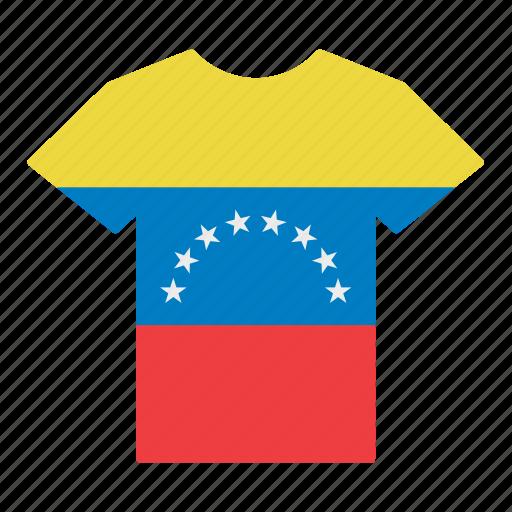 country, flag, jersey, shirt, t-shirt, venezuela, venezuelan icon