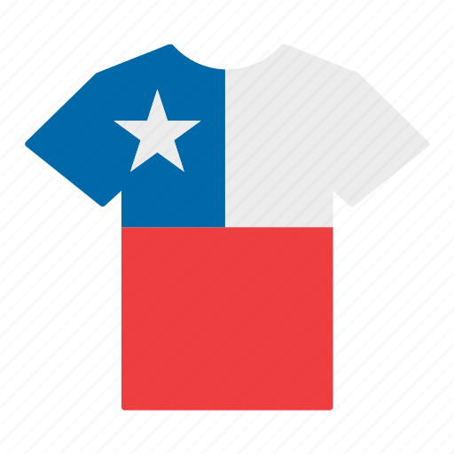 chile, chilean, country, flag, jersey, shirt, t-shirt icon