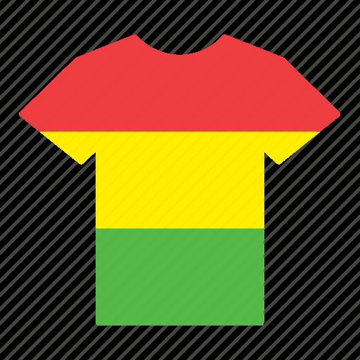 bolivia, bolivian, country, flag, jersey, shirt, t-shirt icon