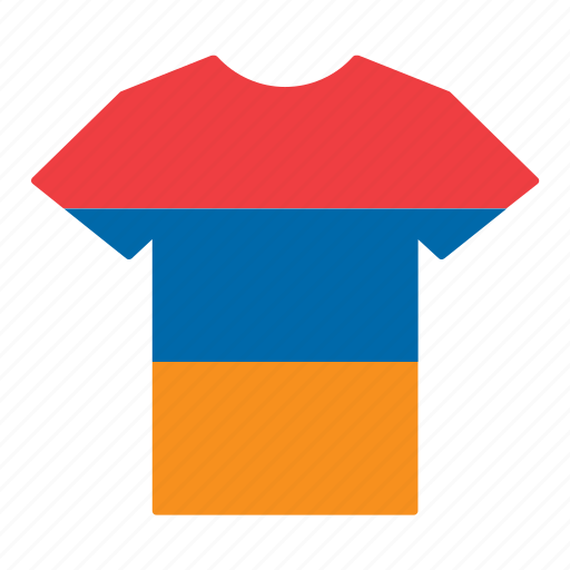 armenia, armenian, country, flag, jersey, shirt, t-shirt icon