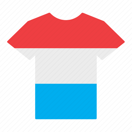 country, flag, jersey, luxembourg, luxembourger, shirt, t-shirt icon
