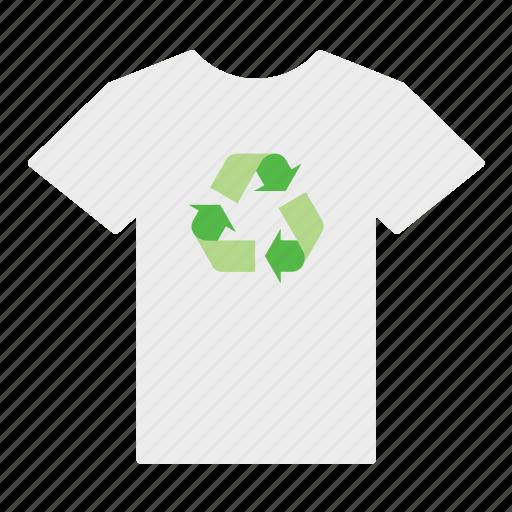 environment, environmental, green, recycle, recycling, shirt, sign icon