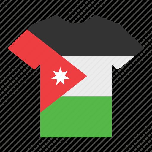 country, flag, jersey, jordan, jordanian, shirt, t-shirt icon