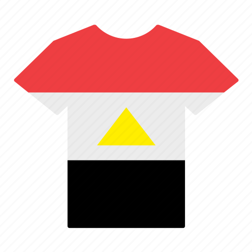 country, egypt, egyptian, flag, jersey, shirt, t-shirt icon