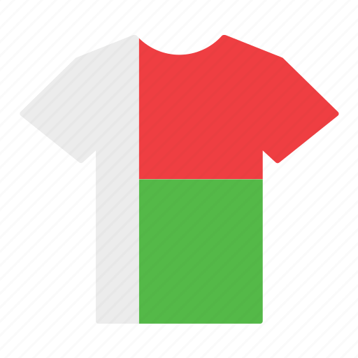 country, flag, jersey, madagascar, malagasy, shirt, t-shirt icon