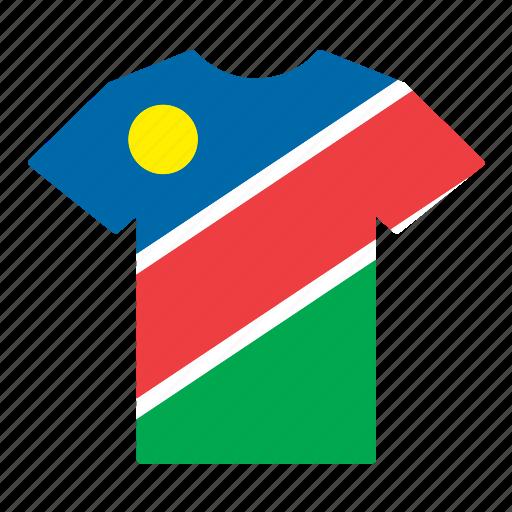 country, flag, jersey, namibia, namibian, shirt, t-shirt icon