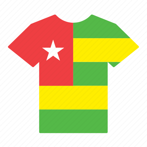 country, flag, jersey, shirt, t-shirt, togo, togolese icon