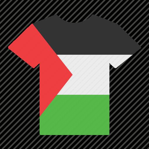 country, flag, jersey, palestine, palestinian, shirt, t-shirt icon