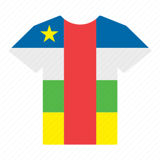 car, central african, central african republic, country, flag, jersey, shirt icon