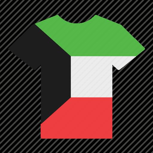country, flag, jersey, kuwait, kuwaiti, shirt, t-shirt icon