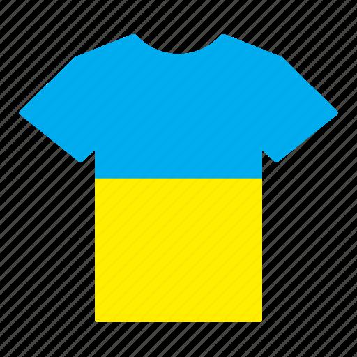 country, flag, jersey, shirt, ukraine, ukrainian icon