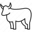 animal, cattle, cow, farm, milk icon
