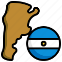 argentina, flag, country, nation, map, location
