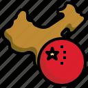 china, flag, world, nation, map, location