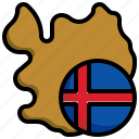 iceland, flag, world, map, country, location