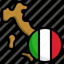 italy, flag, world, nation, map, location