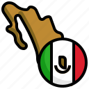 mexico, flag, iconx, world, map, location