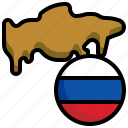russia, flag, country, variant, map, location